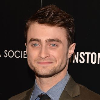 NEW YORK, NY - SEPTEMBER 30: Actor Daniel Radcliffe attends The Cinema Society and Johnston & Murphy screening of Sony Pictures Classics'