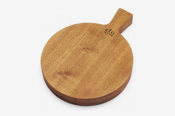 Round Rustic Reclaimed Wood Cheese Paddle