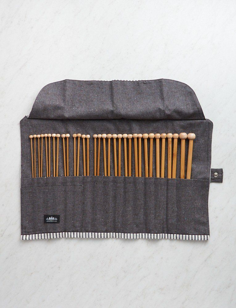 Crystal Palace Straight Bamboo Knitting Needle Set