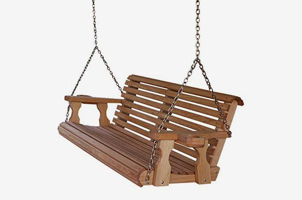 Amish Heavy Duty Treated Porch Swing With Cupholders
