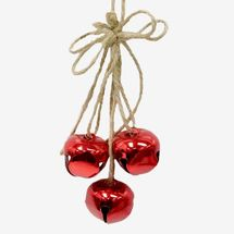 At Home Red Jingle-Bell Ornament