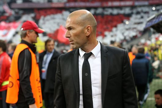MUNICH, GERMANY - APRIL 29: Assistant coach of Real Madrid Zinedine Zidane attends on the bench during the UEFA Champions League semi-final second leg match between FC Bayern Muenchen and Real Madrid at Allianz Arena on April 29, 2014 in Munich, Bavaria, Germany. (Photo by Jean Catuffe/Getty Images)