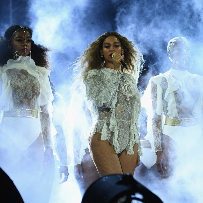 Beyonce in concert.