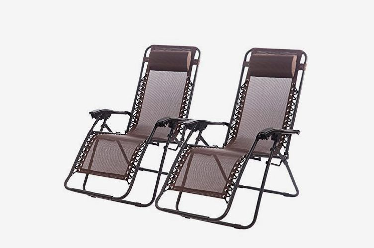 Set Of 2 Zero Gravity Chairs Lounge Patio Chairs
