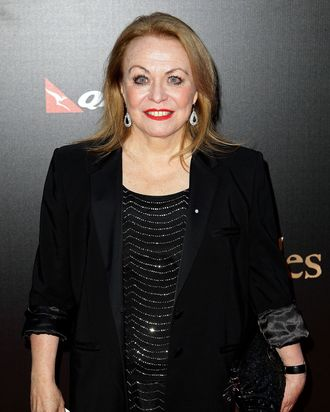 Jacki Weaver walks the red carpet during the Australian premiere of 'Les Miserables' at the State Theatre on December 21, 2012 in Sydney, Australia.