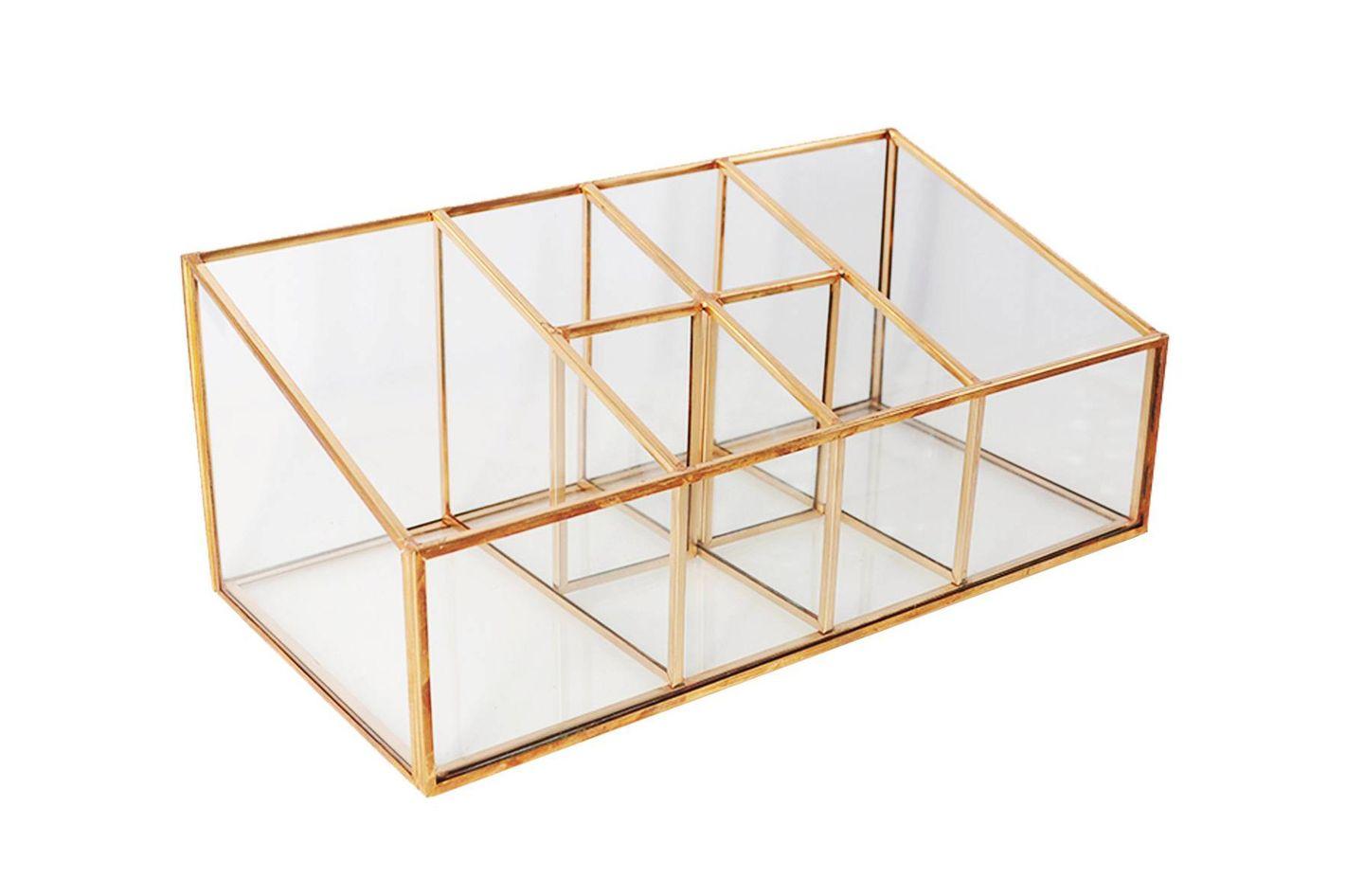 Glass & Metal Vanity Organizer