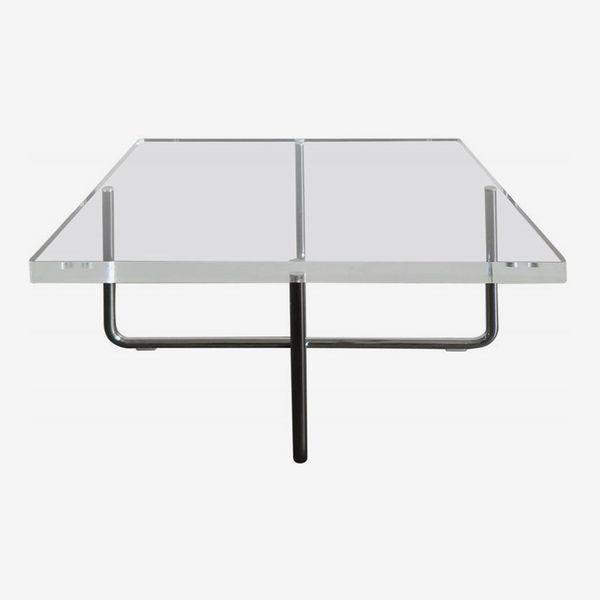 Italian Square Plexiglass Modern Coffee Table Produced by Minotti