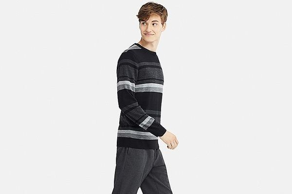 Men's Extra Fine Merino Crew Neck Long-sleeve Sweater