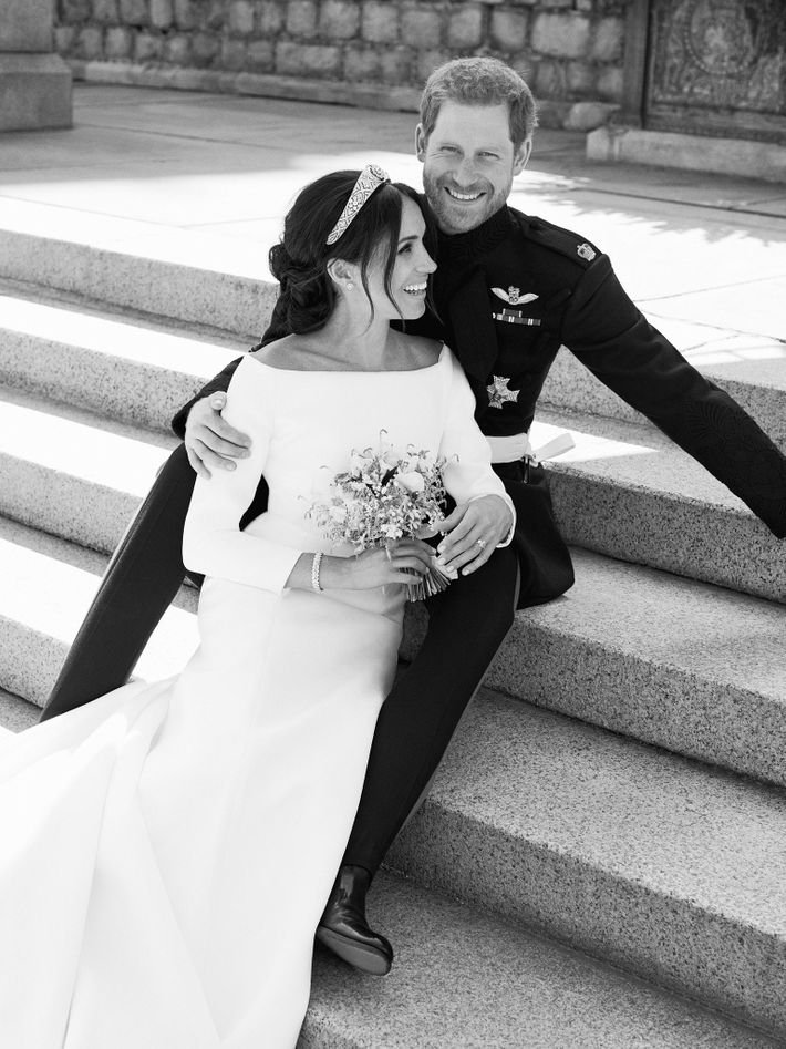 Meghan Markle and Prince Harry's royal wedding portrait.