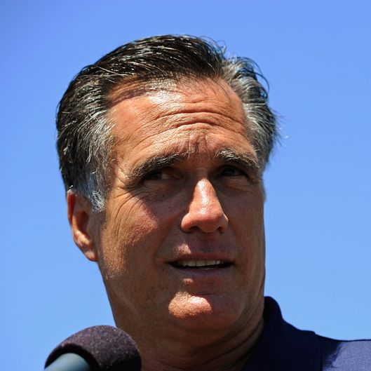 LOS ANGELES, CA - JULY 20:  Republican presidential candidate and former Massachusetts Gov. Mitt Romney speaks during a campaign stop in front of vacant stores of the Valley Plaza shopping center on July 20, 2011 in Los Angeles, California.  Romney criticized President Barack Obama's handling of the economy during the brief campaign event.  (Photo by Kevork Djansezian/Getty Images)