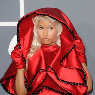 Singer Nicki Minaj arrives at the 54th Annual GRAMMY Awards held at Staples Center on February 12, 2012 in Los Angeles, California.