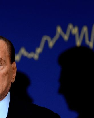 Former Perime Minister Silvio Berlusconi attends the presentation of the book