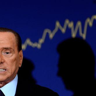 Former Perime Minister Silvio Berlusconi attends the presentation of the book