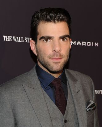 NEW YORK, NY - OCTOBER 17: Zachary Quinto attends the