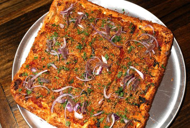 Pizza Tannenbaum.New York New York Magazine