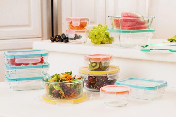 Snapware 24-Piece Total Solution Food Glass Storage Set