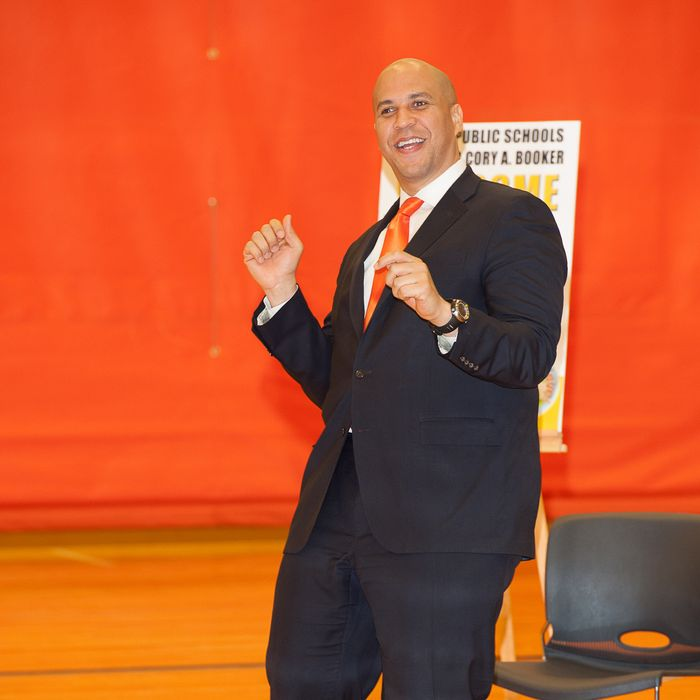 Newark Mayor Cory Booker attends the