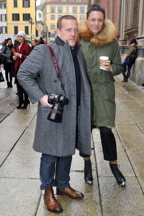 Scott Schuman and Garance Dore attend the Missoni fashion show as part of Milan Fashion Week Womenswear Autumn/Winter 2011 on February 27, 2011 in Milan, Italy.