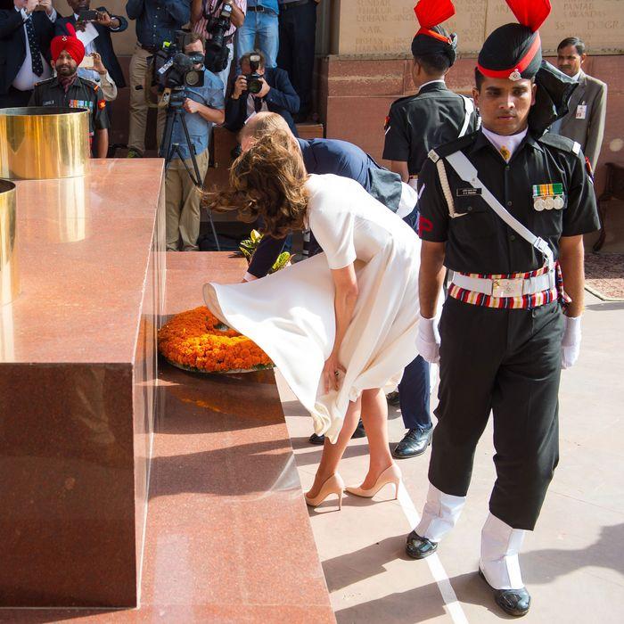 With Prince William in New Delhi.