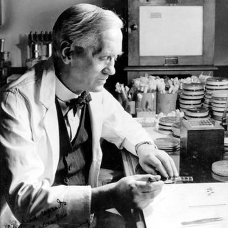 Professor Alexander Fleming, Scottish bacteriologist, c 1930.