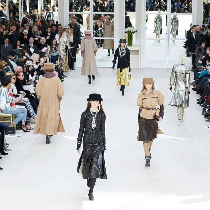 The couture-atelier set at today's Chanel show.