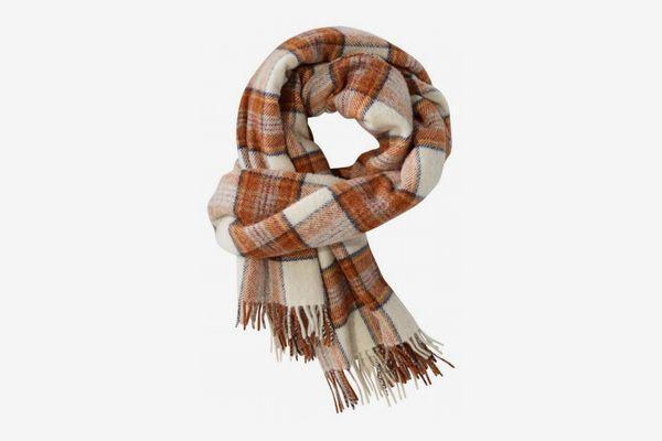 L.L. Bean Plaid Wool Scarf