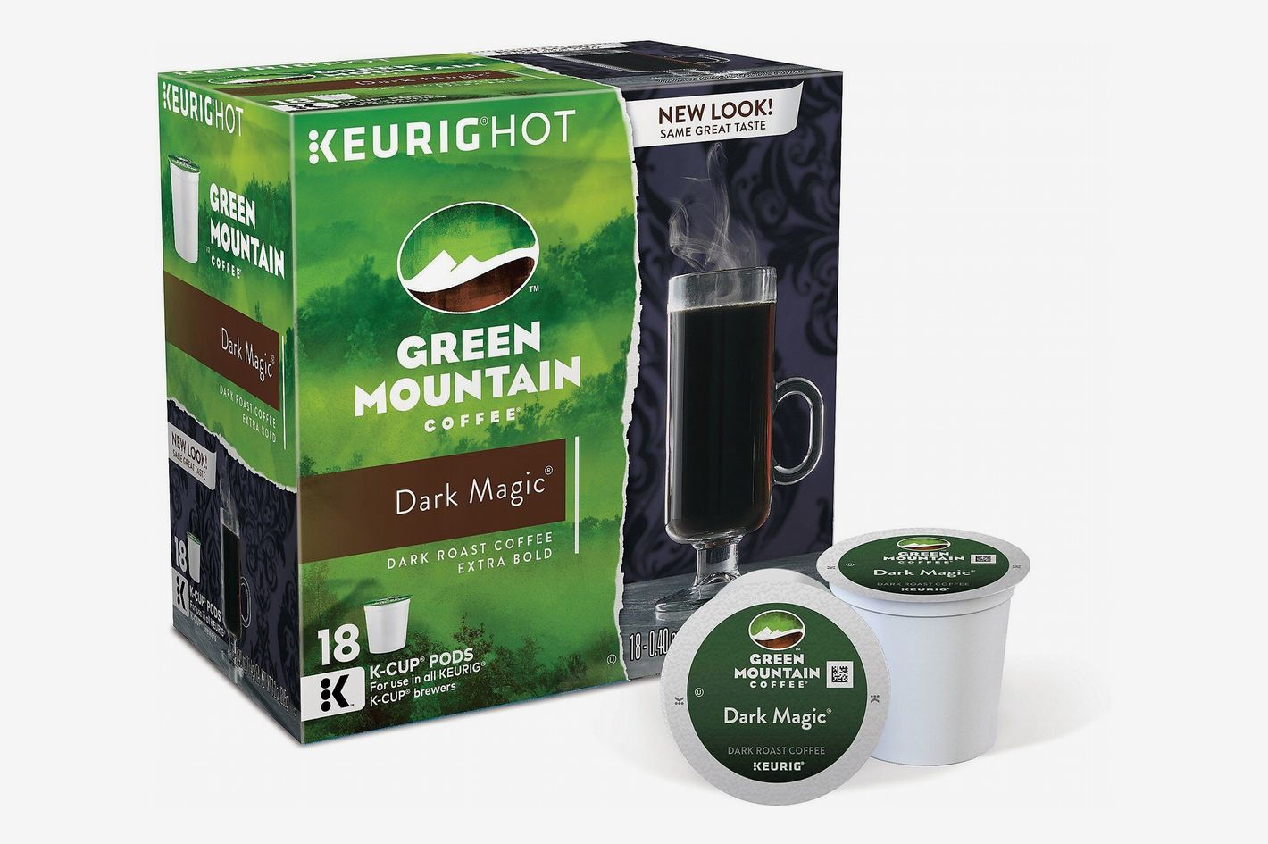 Green Mountain Coffee Dark Roast Single Serve for Keurig, Dark Magic, 18-Count