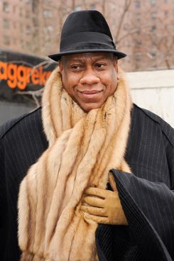 NEW YORK - FEBRUARY 14:  Fashion editor Andre Leon Talley leaves the Fashion Week tents at Lincoln Center's Damrosch Park on February 14, 2011 in New York City.  (Photo by Ray Tamarra/Getty Images) *** Local Caption *** Andre Leon Talley