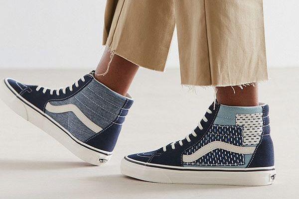 Vans Sk8-Hi Patchwork Denim Sneaker