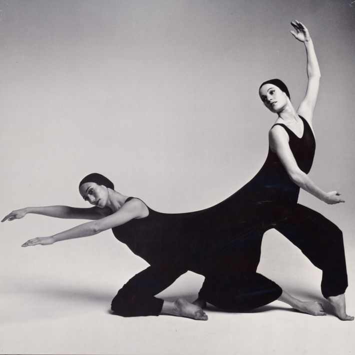 Two ballet dancers in black clothes