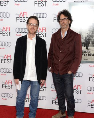 Writer/director Ethan Coen (L) and writer/director Joel Coen attend the AFI FEST 2013 presented by Audi closing night gala screening of