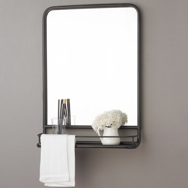 Shades of Light Metal Mirror With Shelf - Small