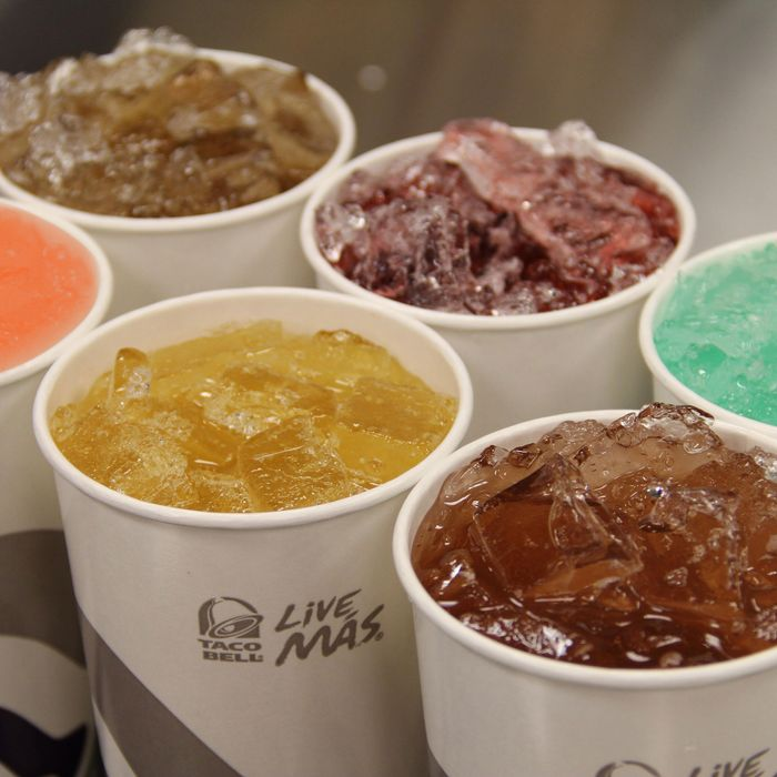 They say that every time a new soda is introduced at Taco Bell, an angel burps.