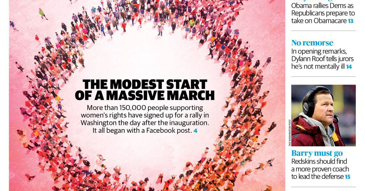 Womens March On Washington Newspaper Cover Uses Male Symbol