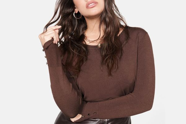 Violeta by Mango Buttoned Cuffs Sweater