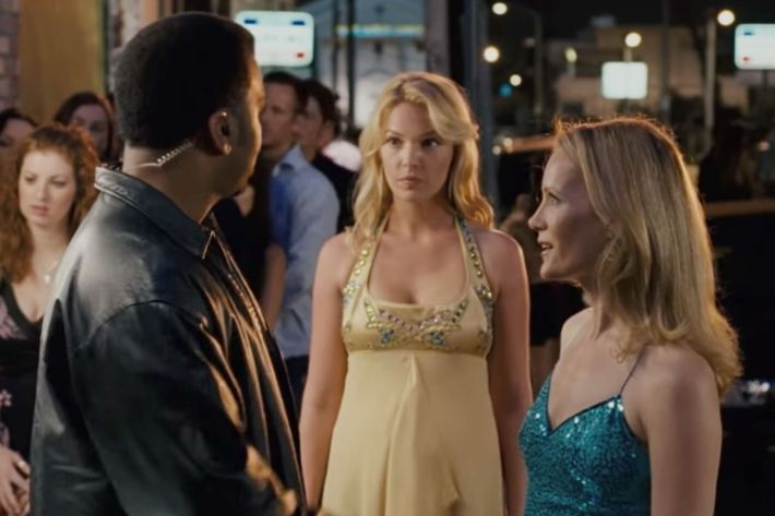 "Craig Robinson, Katherine Heigl, and Leslie Mann in 2007's ""Knocked Up."""