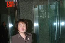 Cecilia Chang, arriving at court she,s charged with stealing millions from St. John's University. (Photo By: Willie Anderson/NY Daily News via Getty Images)