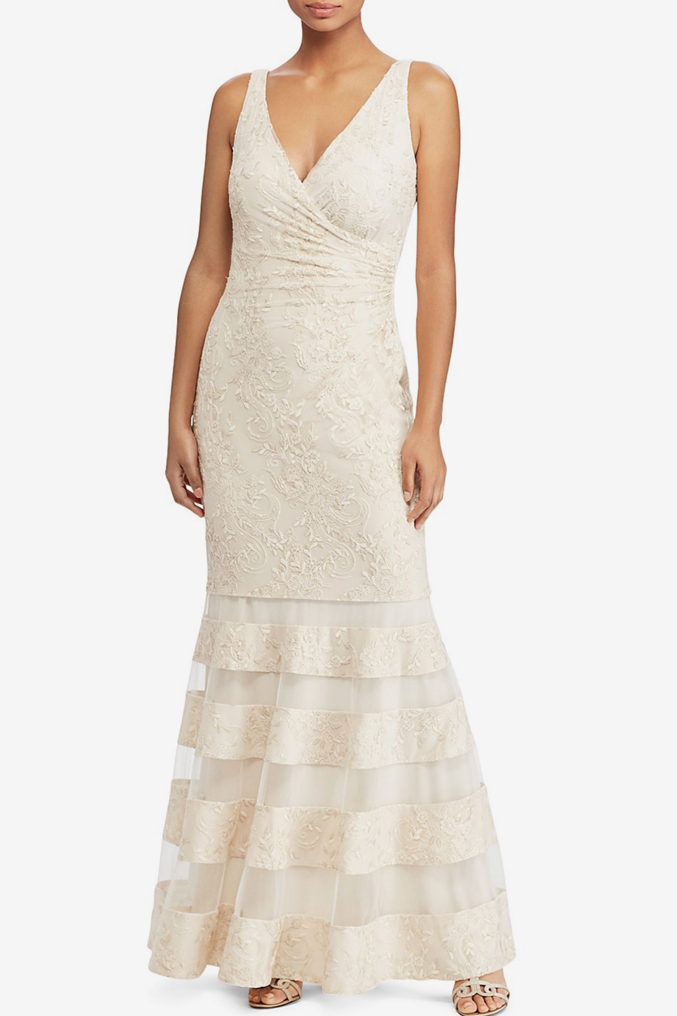 Lauren Ralph Lauren Lace Mermaid Gown