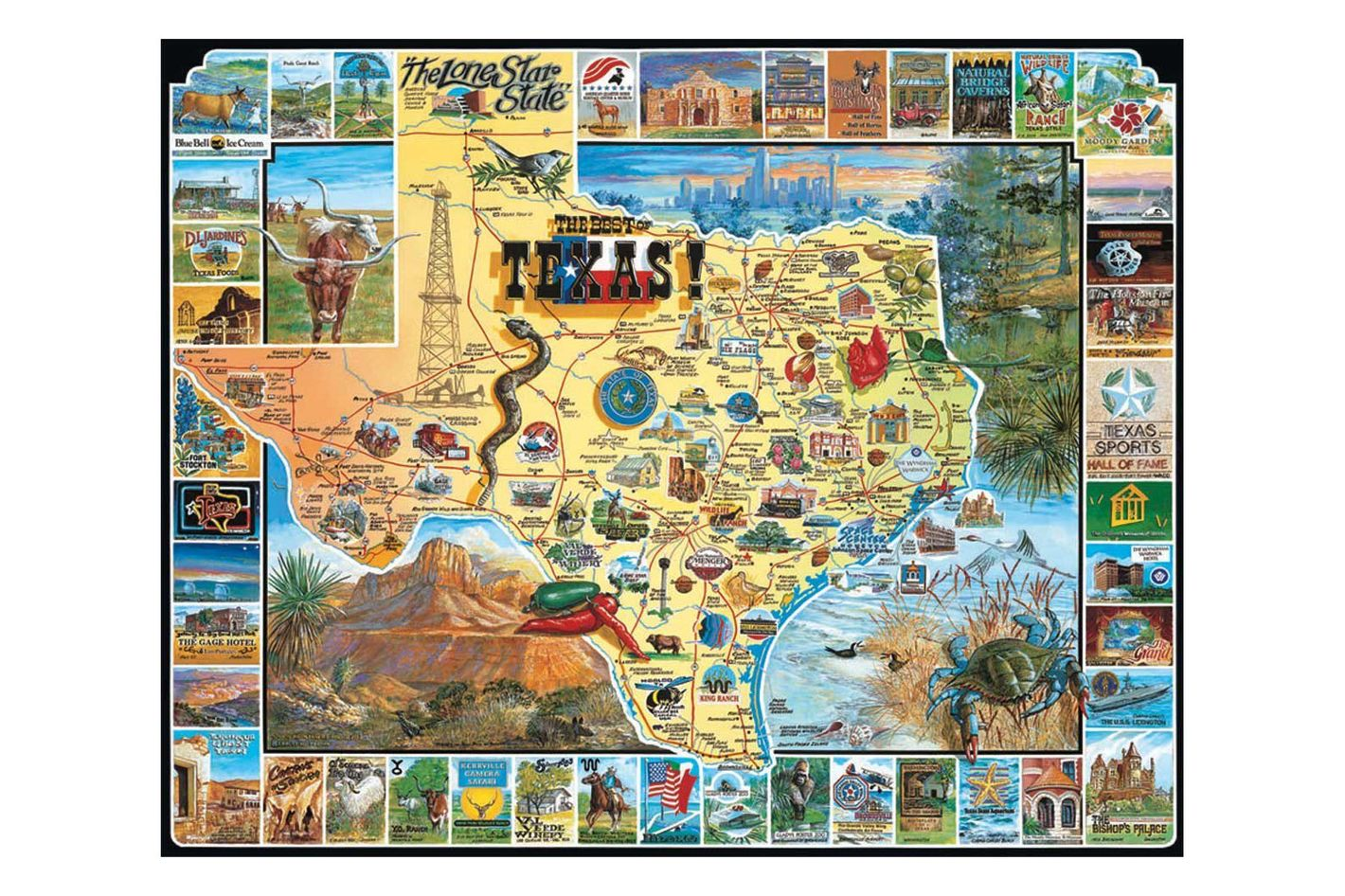 White Mountain Puzzles Best of Texas