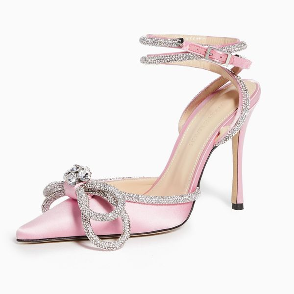 Mach & Mach Double Crystal Bow Heels