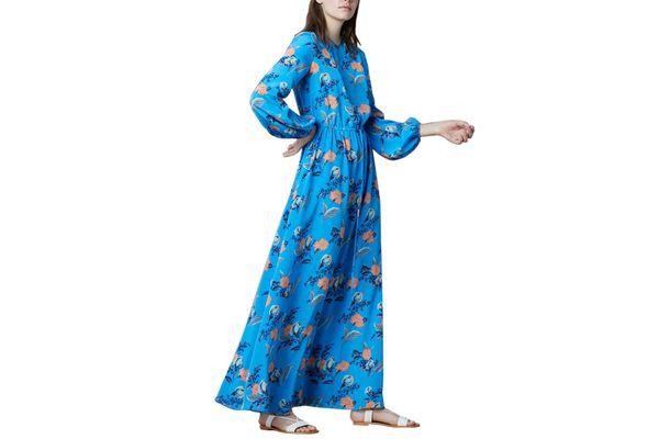 Diane von Furstenberg Crew Neck Floor Length Dress