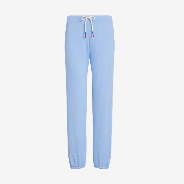 light blue tory sport cotton terry sweatpants