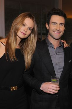 Adam Levine and Behati Prinsloo attend the 2012 GQ Gentlemen's Ball presented by LG, Movado, and Nautica on October 24, 2012 in New York City.