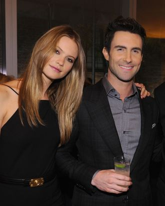 Behati Prinsloo and Adam Levine.
