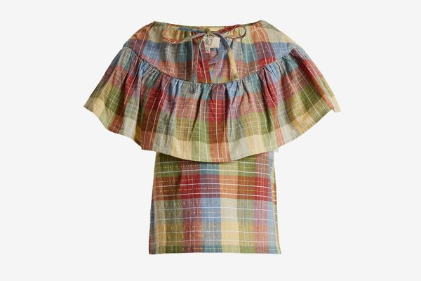 Ace & Jig Clifton Checked Cotton-Blend Top