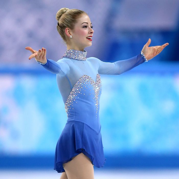Gracie Gold of the United States competes in the Team Ladies Free Skating during day one of the Sochi 2014 Winter Olympics at Iceberg Skating Palace onon February 9, 2014 in Sochi, Russia.