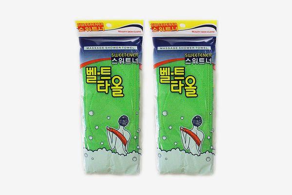 Deakyung Korean Exfoliating Towel, 2 pieces