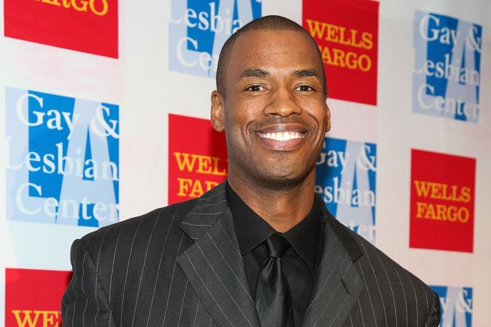 LOS ANGELES, CA - NOVEMBER 09:  Professional basketball player Jason Collins attends the L.A. Gay & Lesbian Center's  42nd Anniversary Vanguard Awards Gala  at Westin Bonaventure Hotel on November 9, 2013 in Los Angeles, California.  (Photo by Imeh Akpanudosen/Getty Images)