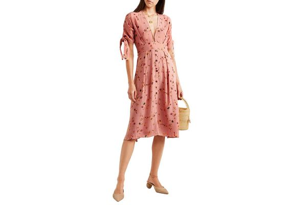 Faithful the Brand Nina floral-print crinkled-crepe midi dress