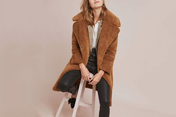 Anthropologie Teddy Faux Fur Coat